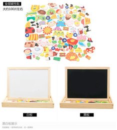 Wholesale Wholesale Wooden Easels - Multifunctional Educational Animal Wooden Magnetic Puzzle Toys for Children Kids Jigsaw Baby's Drawing Easel Board ZD020A