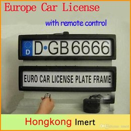 Wholesale Stealth Remote Control - New Europe Russia Plastic Remote Control Auto Car Licence Plate Holder Cover Stealth License Plate Frame 525mm*135mm*25mm