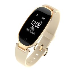 Wholesale Korean Girl Band Fashion - S3 Smart Band Heart Rate Monitor Pedometer Calorie Counter Activity Tracker Fashion Bracelet Smartband for Girl Girl Women Lady