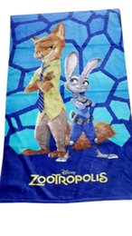 Wholesale Towels Bathrobe For Adult - Zootopia cartoonTowel for kids 2016 new Zootopia judy nick Baby Bath Towel Boys Girls Beach Towel Bathrobe Handkerchief 120*60cm DHL FREE
