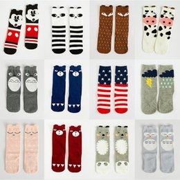 Wholesale Cheap Long Socks - Baby Cotton Socks Cartoon Animals Printed Stockings Kids Knee Legging Socks Children Autumn Winter Warm Long Socks Cheap Free DHL 433