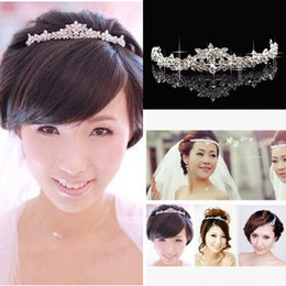 Wholesale Gold Jewelrys - 2016 Bling Cheap Silver Red Wedding Accessories Bridal Tiaras Crystal Rhinestone Hair Bands Prom Jewelrys Women Hair Jewelry Crowns Headband