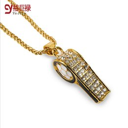 Wholesale Justin Bieber Pendant Necklace - 2016 New jewelry for women collares men Justin Bieber statement necklace Hiphop gold whistling necklaces & pendants unisex maxi collier
