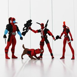Wholesale Marvel Action Figures Spiderman - New 4pcs lot Marvel X-men Dead pool Deadpool PVC Action Figure Collection Model Toy