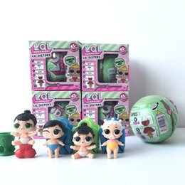 Wholesale Toys Change Shape - Lil Sisters Series 2 baby toys Dress Up dolls baby Tear change egg discolor when touch water egg shape Baby Dolls