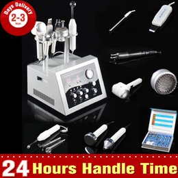 Wholesale Diamond High Frequency - 7In1 Ultrasound Microcurrent Lifting Photon Tender Skin Diamond Dermabrasion High Frequency Scrubber Whiten Hot&Cold Hammer Beauty Machine
