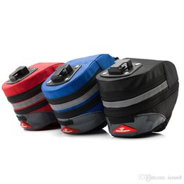 Wholesale Cycling Rear Bag - Outdoor MTB Bike Cycling Bicycle Saddle Bag Bike Back Seat Tail Pouch Package Reflective Stripe Bike Rear Seat Bags Pannier
