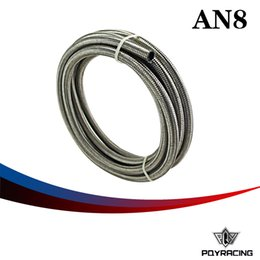 """Wholesale Braided Fuel Hose - PQY RAICNG-AN8 8AN AN -8 (11.2MM   7 16"""" ID) STAINLESS STEEL BRAIDED FUEL OIL HOSE 5 METER 5M PQY7113"""