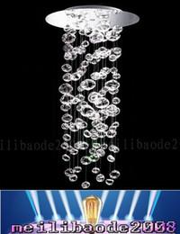 Wholesale Murano Glass Pendant Lamps - Bubble Ball Pendant Lamp Murano Due Bubble Glass Chandelier Suspension 4PCS GU10 Light Custom Size Transparent modern MYY67