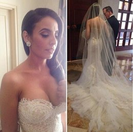 Wholesale Sweetheart Mermaid Cathedral - White Ivory 2017 Lace Wedding Dresses Vintage Mermaid Bridal Gowns With Sweetheart Neck Zip Back Long Court Train 2016 Formal Wedding Gowns