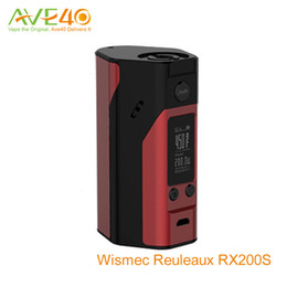 Wholesale Wismec Reuleaux RX200s UPdate RX200 Box Mod w TC spring loaded thread VW Mode Original