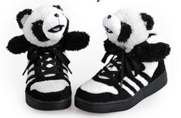 Wholesale Cute Bear Shoes - A couple of shoes lovers design cute bear teddy winter couple shoes casual booties ankle boots for women and men