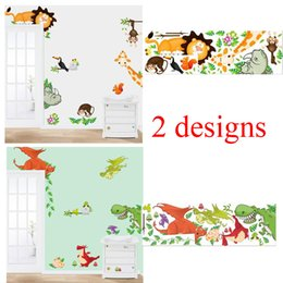 Wholesale Bedding Country Style - 100pcs cartoon animals wall stickers for kids bed room ZYCD001 CD002 zoo decals babys home decorations diy adesivo de parede mural art diy 2
