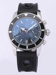 Wholesale Chronometer Quartz - Luxury brand Mens superocean heritage 46 chronometer Date Quartz leather Sport Chronograph Watch Men belt floding clasp Dive Wristwatch