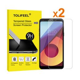 Protector de pantalla protector de rotura online-2 Unids TOLIFEEL 2.5D Curvado Para LG Q6 Protector de Pantalla de Película de Vidrio Templado Para LG Q6 Alfa Anti-shatter Glass Guard