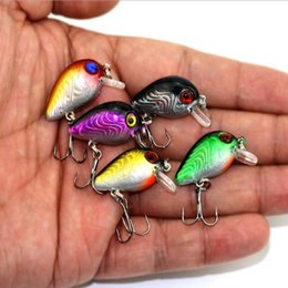 Wholesale Rattle Fishing Lure - Lot 20pcs Minnow Crank Bait Fishing Lures Mini Bronzing Fishing Lures CrankBait Floating Rattles 2.8cm 1.1inch 1.6g