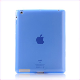 Wholesale Jelly Case Ipad - Free shipping 10pcs High Quality Soft TPU Transparent Jelly Case Cover For Apple ipad 2 ipad 3 ipad 4 6 Colors Free shipping