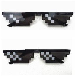 Wholesale Kids Glasses Sale - 2017 Hot Sale YJ101 Thug Life Glasses 8 Bit Pixel Deal With IT Sunglasses Unisex Sunglasses