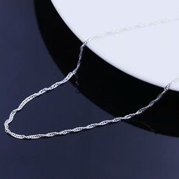 Wholesale Sterling Silver Wave - Korean jewelry female models wave chain 925 sterling silver necklace factory direct wholesale valentine star with money