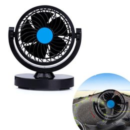 Canada Vente chaude À Faible Bruit 12 V 360 Rotation 2 Vitesse Vent Solide Ventilateur De Voiture De Voiture Climatiseur Refroidissement Voiture Style Haute Qualité Offre
