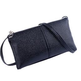 Wholesale Shoulders Handbags Blue Colour - Wholesale-Best Deal New Fashion Good Quality Women Handbag Solid Colour Purse Zipper Day Clutches Handbag Wallet Shoulder Bag Gift 1PC