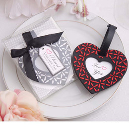 Wholesale Pvc Shipping Tags - New Arrival PVC Love heart shaped Luggage Tag novelty wedding favors gifts DHL Free Shipping wen4502