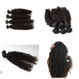 Wholesale Cheap Brazilian Online - Brazilian Deep curly Human Hair 3pcs lot 100% Curly Human Hair Factory Selling Cheap Hair Weave Online G-EASY