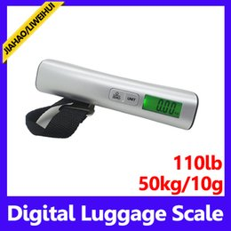 Wholesale Digital Handing Luggage - High quality portable mini digital hanging lage scale weighing hand scale 50kg 10g MOQ=1 free shipping