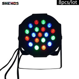 Discount american dj par led - 8PCS LOT American DJ LED Flat Par 19x3W Lighting No Noise 19x3W RGB 7Channels for DJ Disco KTV Party,SHEHDS Stage Lighting