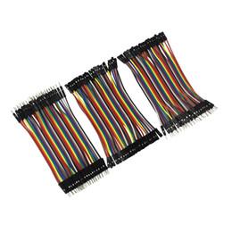Wholesale Arduino Male Female - Wholesale- Dupont Line 120pcs 10cm Male to Male + Female to Male and Female to Female Jumper Wire Dupont Cable for arduino DIY KIT