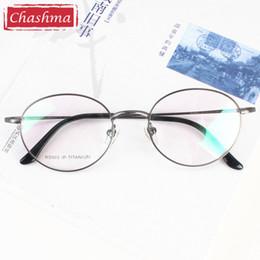 2019 montures de lunettes rondes en gros Gros-Chashma Titanium Ronde Lunettes Optiques Vintage Spectacle Frames Rétro Prescription Lunettes montures de lunettes rondes en gros pas cher