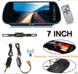 "Wholesale Car Reverse Kit - Details about 7"" LCD Monitor Mirror Car Wireless Backup Rear View Camera Parking Reverse Kit"