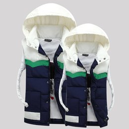 Wholesale Mens Sleeveless Jackets - Fall-2016 Fashion New Women And Mens Winter Vest Hoodie Style Unisex Sleeveless Jacket Plus Size S-3XL Mens Waistcoats Down Vest Men
