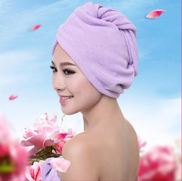 Wholesale Super Absorbent Hair Towels - 2017 color Women Bathroom Super Absorbent Quick-drying Microfiber Bath Towel Hair Dry Bath Cap Salon Towel 25x60cm wholesale free shipping