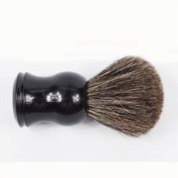 Wholesale Mens Makeup - Black Resin Handle Pony Hair Shaving Brush for Mens Beard brush makeup brush wave brush wave