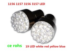 Wholesale H3 Bulbs Yellow - 3157 4157 3156 1157 1156 BA15S G18 white Red Round 19 LED fog Bulb 12V Front Turn Signal Light