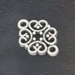 Wholesale Silver Link Connector - Free shipping 2016 HOT Fashion 108pcs flower link connector Charms Tibetan Silver Plated Jewelry DIY for bracelet necklace Pendants 20*13mm
