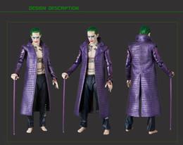 Cuero largo cosplay online-Al por mayor-Película Kukucos Batman Suicide Squad Halloween Coat Chaqueta larga de cuero Jared Leto Joker Cosplay con pantalones Estilo de la manera