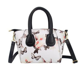 Wholesale Patent Hobo - Women Handbags Famous Brand PU Leather Messenger Bags Womens Tote Bags Flower Printed Bag for Ladies