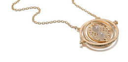 Wholesale Hourglass Necklaces - Europe and America selling movies, time converter, necklace, 360 degree rotation time, hourglass, sweater chain wholesale