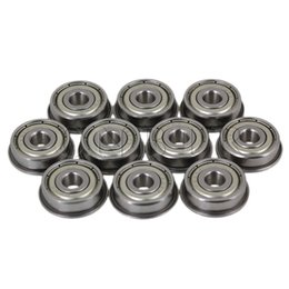 Wholesale Flange Ball Bearings - Wholesale- CNBTR 10pcs Lot 5x16x5mm F625ZZ Steel Shielded Flanged Model Ball Precise Flange Bearing