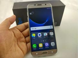 Wholesale Dual Sim Hdc - 2016 HDC Goophone S7 edge Unlocked cell phone Quad Core Android 6.0 1G Ram 8G Rom Show Octa core 64GB ROM Fake 4G LTE Smartphone DHL