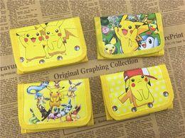 Wholesale Pokemon Coins - Poke go Pikachu canvas wallet bags 4 Style Children Poke Ball Sylveon Pikachu Charmander Bulbasaur Jeni turtle wallet coin purse