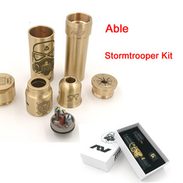 Wholesale Cap Times - Newest Able Stormtrooper Kit Clone Able V3 kit with Able Stormtrooper Mod AV Battle RDA and Time Cap Fit 18650 Battery DHL TZ700