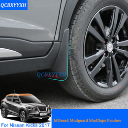 Wholesale Mud Guards For Cars - External Decoration 4pcs Car Styling ABS Mud Flaps Splash Guard Mudguard Mudflaps Fenders Perfector For Nissan Kicks 2017