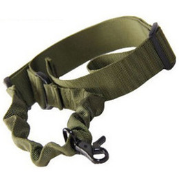 Wholesale Green Airsoft Guns - Tactical Hunting Single Point Adjustable Bungee Rifle Gun Sling System Strap Hook Airsoft Mud Color Army Green Black
