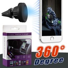 пластиковая карточка для планшета Скидка Универсальный Air Vent Магнитный Автомобильный Держатель Телефона 360 Градусов Магнитное Крепление для Универсального Мобильного Телефона с Розничной Упаковкой
