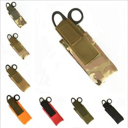 Wholesale Medical Pouches - Outdoor Spinning Type Tourniquet Bags Small Tactical Flashlight Scissors Bag Medical Accessories Pouch Cases 100 PCS YYA928