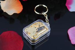 Frete grátis Mini Gilded Chaveiro Caixa de Música Presentes Criativos presente de aniversário Castelo no Céu de