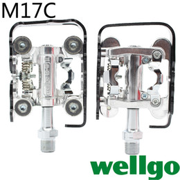 Wholesale Side Steps - Wholesale-Free shipping genuine wellGo pedal WPD-M17C mountain bike two-sided dual-use lock step lock pedal